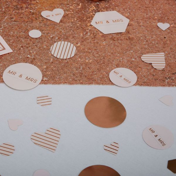 Geo Blush Table Confetti